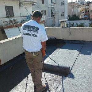 Waterproof insulation with asphalt membranes – Athens (Palaio Faliro)