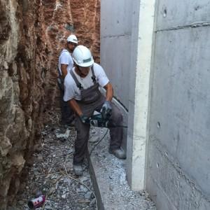 Στεγανοποίηση & θερμομόνωση τοιχίων υπογείου – Νέα Αρτάκη (Ακτή Βολέρη)